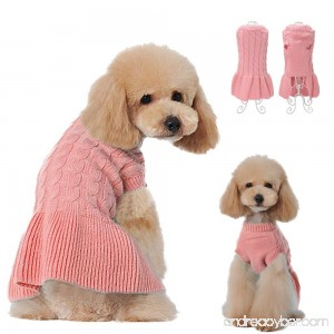 Didog Fashion Sweety Pretty Puppy Two Leg Sweater Classic Design Dress - B076CBZMV9