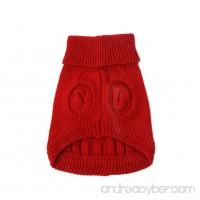 Edal Pet Dog Clothes Winter Warm Sweater Knitwear Knit Puppy Coat Outwear - B01AW5GOKC