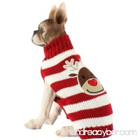 Menpet Pet Holiday Cartoon Elk Dog Sweater - B016EX5KS8