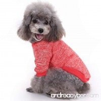 Pet Dog Classic Knitwear Sweater Warm Winter Puppy Pet Coat Soft Sweater Clothing For Small Dogs (S Red) - B07412PV2K