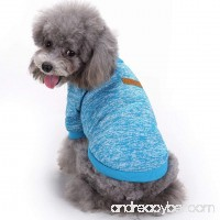 Pet Dog Classic Knitwear Sweater Warm Winter Puppy Pet Coat Soft Sweater Clothing For Small Dogs (S  Light blue) - B073ZZM7BD
