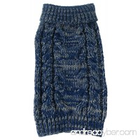 Pet Life Classic True Blue Heavy Cable Knitted Ribbed Fashion Dog Sweater - B00W97TXTQ