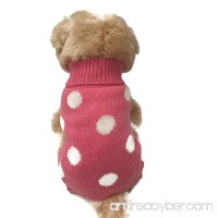Small dog clothes warm cute French Polka Dots Pink pet sweater. winter apparel  Puppy - B071V84WTG