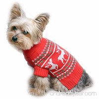 Stinky G Festive Reindeer Dog Sweater - B017TS0AYG