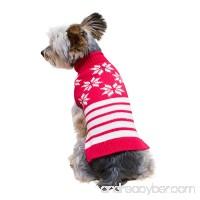Stinky G snowflakes Sleeveless Dog Pet Sweater - B01M6YSCK2