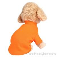 Sunward Pet Dog Clothes Soft Thickening Warm Stripe Polar Fleece Winter Clothes - B075R76WRL
