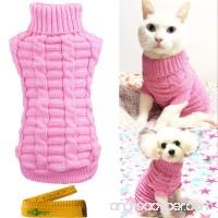 Wiz BBQT Knitted Braid Plait Turtleneck Sweater Knitwear Outerwear for Dogs & Cats - B018XVRSG6