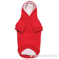 Zack & Zoey Fleece Lined Pet Sweatshirt Hoodie - Tomato Red - B0062FVBLY