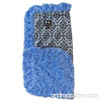 Bessie and Barnie Blue Sky/Versailles Blue Luxury Ultra Plush Faux Fur Pet  Dog  Cat  Puppy Super Soft Reversible Blanket (Multiple Sizes) - B00LGH61YA