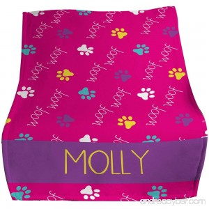 GiftsForYouNow Woof Woof Personalized Pet Throw Blanket - B075SJVSLL id=ASIN