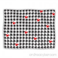 Kess InHouse Empire Ruhl Spacey Houndstooth Heart Pet Blanket 40 by 30-Inch - B00JRUY0QO