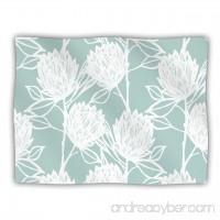 Kess InHouse Gill Eggleston Protea Jade White Blue Flowers Dog Blanket 60 by 50-Inch - B00JRT2EK4