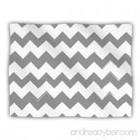 Kess InHouse KESS Original 'Candy Cane Gray' Chevron Dog Blanket 40 by 30-Inch - B00JRSIBDE