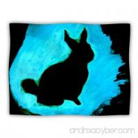 Kess InHouse Theresa Giolzetti Blue Moon Bunny Aqua Paint Pet Blanket 60 by 50-Inch - B00JRUTKBY