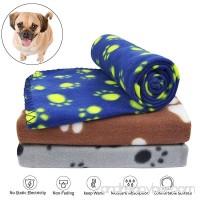 KYC 3 pack 40 x 28 '' Puppy Blanket Cushion Dog Cat Fleece Blankets Pet Sleep Mat Pad Bed Cover with Paw Print Kitten Soft Warm Blanket for Animals - B07F6Y1WW6