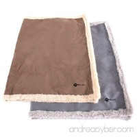 Max and Neo Faux Suede Fleece Dog Blanket - One Side Soft Furry Fleece One Side Faux Suede - We Donate a Blanket to a Dog Rescue for Every Blanket Sold - B078HC9CPZ
