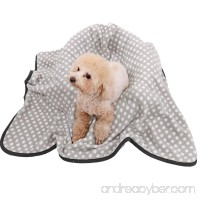 Ohana Elegant Pet Blanket for Dogs and Cats Soft and Warm Puppy Sleep Mat Fleece Bed Covers for Bed  Couch  Car  Crate and Carrier Bag Grey L - B079DNZT9W