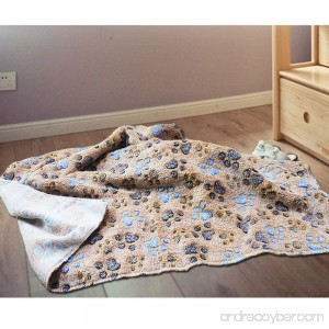 Pet Blankets Super Soft and Fluffy Premium Flannel Fleece Fabric Soft Dog Throw Blanket Cute Paw Prints for Dog and Cat - B0799N7NK1