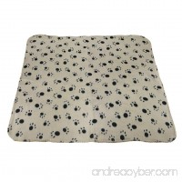 Pet Puppy Dog Cat Animals Soft Blanket Large Thick Fleece Double-side Cute Paw Claw Print Pet Kitten Bed Mat Cover Warm Bathing Shower Dry Wrap Towel Sleep Quilt 39.4 x 27.6 inch - B01EFQPTQY