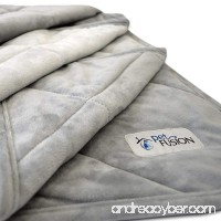 PetFusion Premium Plus Quilted Dog and Cat Blanket. Light Inner Fill 70GSM Reversible Gray Micro Plush. [100% soft polyester] - B0743LJHZ5
