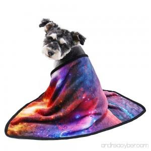 Speedy Pet 3D Digital Galaxy Dog Cat Blanket Snuggle Soft Flannel Puppy Blanket Cushion Warm Cozy Sleep Mat Blankets for Dogs and Cats - B07CTDZ3KH
