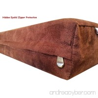 55''x47''x4'' MicroSuede Brown Duvet Gusset Comfort Durable Zipper Dog Bed Resistant Anti Slip Case - Cover Only - B00NGYFBUQ
