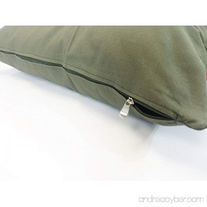 American Comfort Warehouse 36x29 Medium Size Removable Zippered Tough Durable Green Canvas Cover Case for Small to Medium Dogs - External Cover Only - B01J2LAHMI