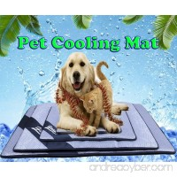 DODOING Breathable Summer Non-Toxic Pet Self Cooling Mat for Dog Cat Sleeping Mat Bed Cooler Mattress Rattan Mat Cold Pad Ice Cushion - B07FZS8PSH