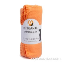 Fleece Pet Blanket Orange 60 By 40-inch - B0147GPC32
