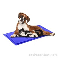 isYoung Cooling Mat Pressure Activated Chilly Dog Cat Bed Gel Mat Blue - Best For Keeping Pets Cool (35.4 x 19.7inches) - B07DQQCWV4