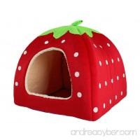 KiKi Monkey Strawberry Style Cute Soft Warm Pet House  Cat Dog Pet Bed - B073QP49BX
