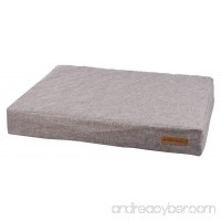 M-Pets Dark Grey Orthopedic Mattress Pet Bed for Dogs or Cats - B071X6CMNP