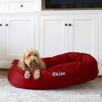 Personalized Majestic Pet Bagel Style Dog Bed - Machine Washable - Soft Comfortable Sleeping Mat - Durable Supportive Cushion - Custom Embroidered Dog Bed - available in multiple colors and sizes - B01MZDB07T