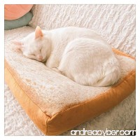 Pet Mat  FTXJ Novelty Toast Dog Blanket Pet Cushion Cat Bed Soft Sleep Pad - B0719K9ZC5