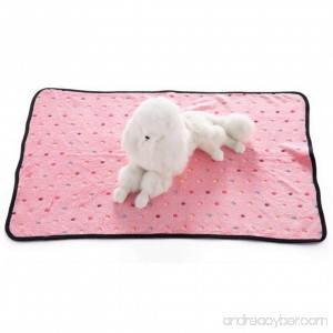 Premewish Super Soft And Warm Dog Cat Puppy Pet Blanket Paw Print Pet Cat Dog Blanket Comfortable Beds - B07D5D1YFN