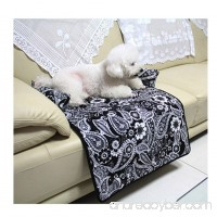 Saymequeen Cat Dog Flower Sofa Chair Cover Bed Pet Reversible Sofa Couch Furniture Protector Mat - B07G113ZRN