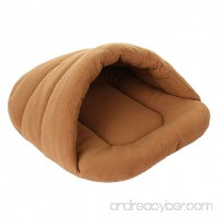 UEETEK Dog Cave Bed Small Cute Puppy Slipper Shape Bed Cat Dog Cave Nest Pet House Soft Warm Cushion Tunnel for Pets Size S 15 x 11 x 3.9inch - B077SHNDX4