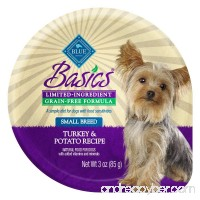 BLUE Basics Limited Ingredient Diet Grain Free Small Breed Wet Dog Food Cups - B010D1O31M