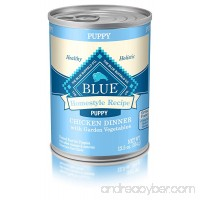 BLUE Life Protection Dog Food Blue Buffalo Homestyle Recipe Natural Puppy Wet Dog Food Chicken 12.5-oz can (Pack of 12) - B009LQD2CC