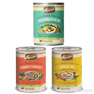 Merrick Classic Recipe Canned Dog Food Variety (12 Pack) - Wilderness Blend Cowboy Cookout & Wingaling - B01BLU1EMK