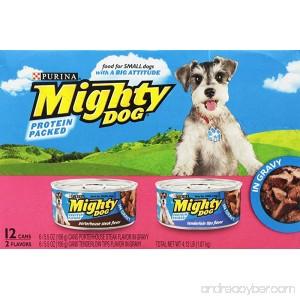 Purina Mighty Dog Wet Dog Food 2 Flavor Variety Pack In Gravy (Steak/Tenderloin) 5.5-Ounce Can 2 Packs of 12 - B002CJOE2W