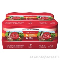 Purina ONE SmartBlend Tender Cuts Adult Variety Pack Adult Wet Dog Food - (2 Packs of 6) 13 oz. Cans - B01J2V2BBS