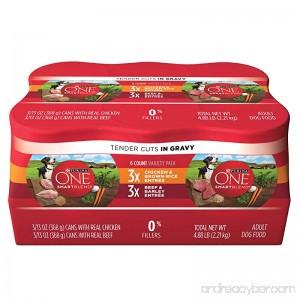 Purina ONE SmartBlend Tender Cuts Adult Variety Pack Adult Wet Dog Food - (2 Packs of 6) 13 oz. Cans - B01J2V2BBS
