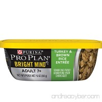 Purina Pro Plan BRIGHT MIND Adult 7+ Wet Dog Food - (8) 10 oz. Tubs - B017VU6CJ4