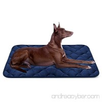 Dog Bed Mat Washable - Soft Fleece Crate Pad - Anti-slip Matress for Small Medium Large Pets by HeroDog - B072N4GCQB