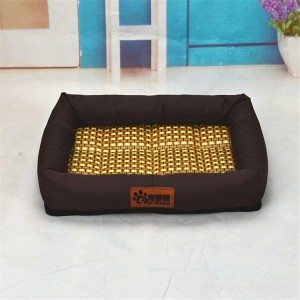 Hoxekle Pet Dog Cat Bed Ice Mat Summer Puppy Bamboo Leakproof Ice Pad Cooling Bed for Large or Small Cat Dog Sleeping Mats 1pcs - B07D5VL2NR
