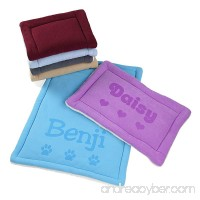 Personalized Dog Kennel Mat - Large or Small Pad Cute Washable Bed Cushion - Cats or Dogs - B077M41QVT id=ASIN