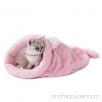 Pet Dog Cat Sleeping Bag Comfortable Bed Mats Warm Soft Cat Shape Pet Nest in Winter - B079NDW47C