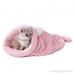 Pet Dog Cat Sleeping Bag Comfortable Bed Mats Warm Soft Cat Shape Pet Nest in Winter - B079NDW47C
