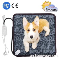 "Pet Heating Pad Anyprize Waterproof Electric Pad for Dogs &Cats Warming Mat with Chew Resistant Cord 17.7""x17.7"" - B077C1PLJ4"